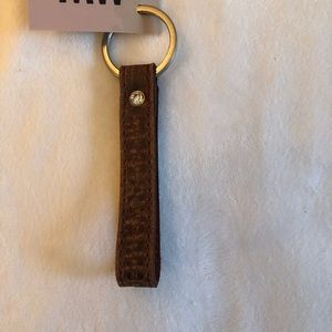 MOST WANTED LEATHER KEYCHAIN